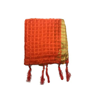 S H A H I T A J Traditional Rajasthani Faux Silk Orange or Kesariya Barati/Groom/Social Occasions Turban Safa Pagdi Pheta Cloth for Kids and Adults (CT391)-ST551