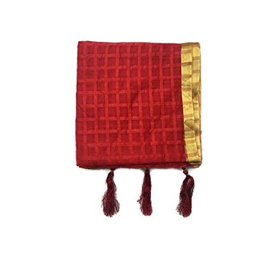 S H A H I T A J Traditional Rajasthani Faux Silk Red Barati/Groom/Social Occasions Turban Safa Pagdi Pheta Cloth for Kids and Adults (CT392)-ST552