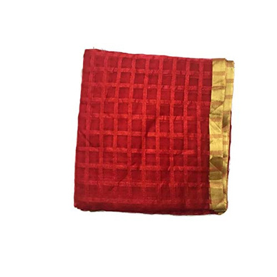 S H A H I T A J Traditional Rajasthani Faux Silk Red Barati/Groom/Social Occasions Turban Safa Pagdi Pheta Cloth for Kids and Adults (CT392)-Free Size-1
