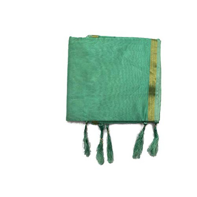 S H A H I T A J Traditional Rajasthani Faux Silk Green Barati/Groom/Social Occasions Turban Safa Pagdi Pheta Cloth for Kids and Adults (CT393)-ST553