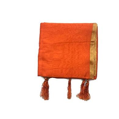 S H A H I T A J Traditional Rajasthani Faux Silk Orange Kesariya Barati/Groom/Social Occasions Turban Safa Pagdi Pheta Cloth for Kids and Adults (CT395)-ST555