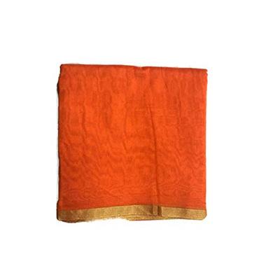 S H A H I T A J Traditional Rajasthani Faux Silk Orange Kesariya Barati/Groom/Social Occasions Turban Safa Pagdi Pheta Cloth for Kids and Adults (CT395)-Free Size-1