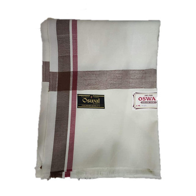 S H A H I T A J Traditional Rajasthani Oswal Unisex Cotton Off-White Stole or Shawl For Social Occasions (DS400) (Pack of 1 Piece)-ST560