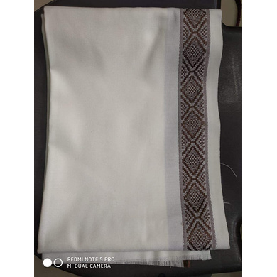 S H A H I T A J Traditional Rajasthani Oswal Unisex Cotton Off-White Stole or Shawl For Social Occasions (DS401) (Pack of 1 Piece)-Free Size-3