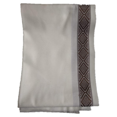 S H A H I T A J Traditional Rajasthani Oswal Unisex Cotton Off-White Stole or Shawl For Social Occasions (DS401) (Pack of 1 Piece)-Free Size-4
