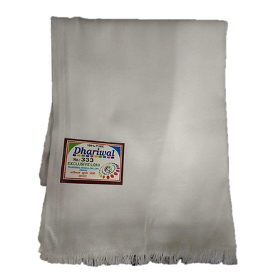 S H A H I T A J Traditional Rajasthani Dhariwal Unisex Cotton Off-White Stole or Shawl For Social Occasions (DS402) (Pack of 1 Piece)-ST562