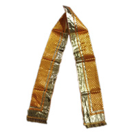 S H A H I T A J Traditional Rajasthani Unisex Yellow Satin Uparna/Stole for Social Occasions/Bhagwan or God's Idols (DS404) (Pack of 3 Pieces)