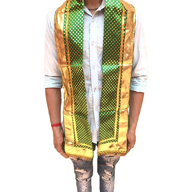 S H A H I T A J Traditional Rajasthani Unisex Satin Uparna/Stole for Social Occasions/Bhagwan or God's Idols (DS407) (Pack of 3 Pieces)-ST567