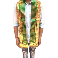 S H A H I T A J Traditional Rajasthani Unisex Satin Uparna/Stole for Social Occasions/Bhagwan or God's Idols (DS407) (Pack of 3 Pieces)