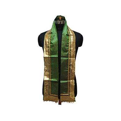 S H A H I T A J Traditional Rajasthani Unisex Satin Uparna/Stole for Social Occasions/Bhagwan or God's Idols (DS407) (Pack of 3 Pieces)-Free Size-1