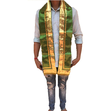 S H A H I T A J Traditional Rajasthani Unisex Satin Uparna/Stole for Social Occasions/Bhagwan or God's Idols (DS407) (Pack of 3 Pieces)-Free Size-2