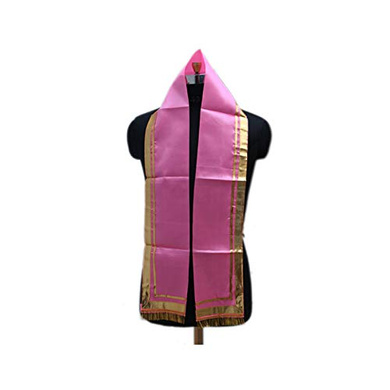 S H A H I T A J Traditional Rajasthani Unisex Pink Satin Uparna/Stole for Social Occasions/Bhagwan or God's Idols (DS408) (Pack of 3 Pieces)-ST568