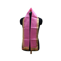 S H A H I T A J Traditional Rajasthani Unisex Pink Satin Uparna/Stole for Social Occasions/Bhagwan or God's Idols (DS408) (Pack of 3 Pieces)