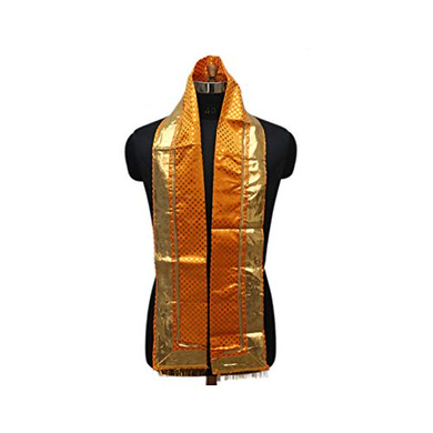 S H A H I T A J Traditional Rajasthani Unisex Satin Uparna/Stole for Social Occasions/Bhagwan or God's Idols (DS410) (Pack of 3 Pieces)-ST570