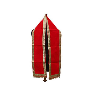 S H A H I T A J Traditional Rajasthani Unisex Velvet Uparna/Stole for Social Occasions/Bhagwan or God's Idols (DS411) (Pack of 1 Piece)-ST571