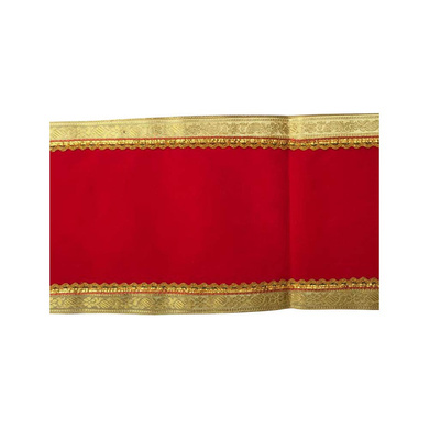 S H A H I T A J Traditional Rajasthani Unisex Velvet Uparna/Stole for Social Occasions/Bhagwan or God's Idols (DS411) (Pack of 1 Piece)-Free Size-1