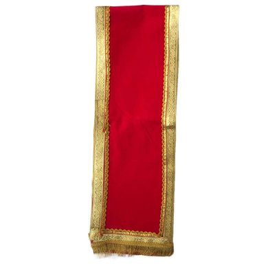 S H A H I T A J Traditional Rajasthani Unisex Velvet Uparna/Stole for Social Occasions/Bhagwan or God's Idols (DS411) (Pack of 1 Piece)-Free Size-2