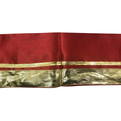 S H A H I T A J Traditional Rajasthani Unisex Satin Red Uparna/Stole for Social Occasions/Bhagwan or God's Idols (DS413) (Pack of 3 Pieces)-Free Size-1