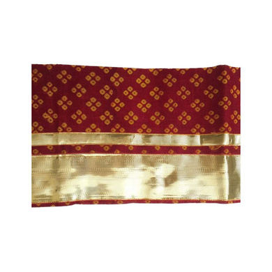S H A H I T A J Traditional Rajasthani Unisex Cotton Red Uparna/Stole for Social Occasions/Bhagwan or God's Idols (DS414) (Pack of 3 Pieces)-Free Size-1
