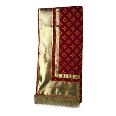 S H A H I T A J Traditional Rajasthani Unisex Cotton Red Uparna/Stole for Social Occasions/Bhagwan or God's Idols (DS414) (Pack of 3 Pieces)-Free Size-2