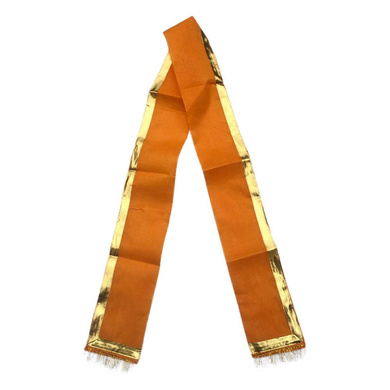 S H A H I T A J Traditional Rajasthani Unisex Cotton Orange Kesariya Uparna/Stole for Social Occasions/Bhagwan or God's Idols (DS415) (Pack of 6 Pieces)-ST575