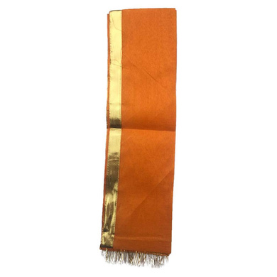 S H A H I T A J Traditional Rajasthani Unisex Cotton Orange Kesariya Uparna/Stole for Social Occasions/Bhagwan or God's Idols (DS415) (Pack of 6 Pieces)-Free Size-2