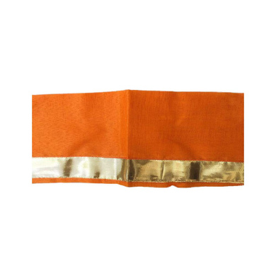 S H A H I T A J Traditional Rajasthani Unisex Cotton Orange Kesariya Uparna/Stole for Social Occasions/Bhagwan or God's Idols (DS416) (Pack of 6 Pieces)-Free Size-1