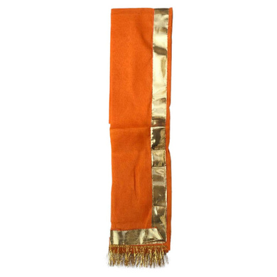 S H A H I T A J Traditional Rajasthani Unisex Cotton Orange Kesariya Uparna/Stole for Social Occasions/Bhagwan or God's Idols (DS416) (Pack of 6 Pieces)-Free Size-2