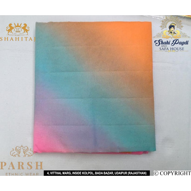 S H A H I T A J Traditional Rajasthani Multi-Colored Barati/Groom/Social Occasions Georgette Pagdi Safa Turban or Pheta Cloth 9 Mtrs for Kids and Adults (CT470)-ST586
