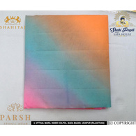S H A H I T A J Traditional Rajasthani Multi-Colored Barati/Groom/Social Occasions Georgette Pagdi Safa Turban or Pheta Cloth 9 Mtrs for Kids and Adults (CT470)