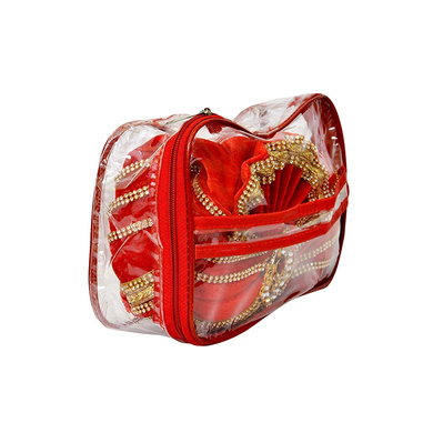 S H A H I T A J Traditional Rajasthani Readymade Velvet Velcro Adjustable Multi-Colored Foldable Pagdi Safa or Turban for Groom or Dulha (RT476)-21-3