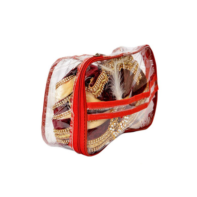 S H A H I T A J Traditional Rajasthani Readymade Velvet Velcro Adjustable Multi-Colored Foldable Pagdi Safa or Turban for Groom or Dulha (RT483)-21-3