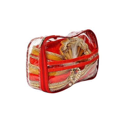 S H A H I T A J Traditional Rajasthani Readymade Velvet Velcro Adjustable Multi-Colored Foldable Pagdi Safa or Turban for Groom or Dulha (RT484)-21-3