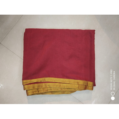 S H A H I T A J Traditional Rajasthani Faux Silk Maroon Barati/Groom/Social Occasions Turban Safa Pagdi Pheta Cloth for Kids and Adults (CT353)-Free Size-1