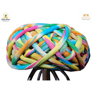 S H A H I T A J Traditional Rajasthani Cotton Multi-Colored Vantma or Rope Pagdi Safa or Turban for Kids and Adults (RT499)-ST619_18andHalf