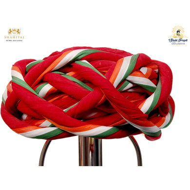 S H A H I T A J Traditional Rajasthani Cotton Multi-Colored Vantma or Rope Pagdi Safa or Turban for Kids and Adults (RT500)-ST620_18andHalf