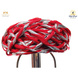 S H A H I T A J Traditional Rajasthani Cotton Red Vantma or Rope Pagdi Safa or Turban with Silver Gota Patti for Kids and Adults (RT501)-ST621_22andHalf-sm