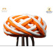 S H A H I T A J Traditional Rajasthani Cotton Orange & White Vantma or Rope Pagdi Safa or Turban for Kids and Adults (RT503)-ST623_23andHalf-sm
