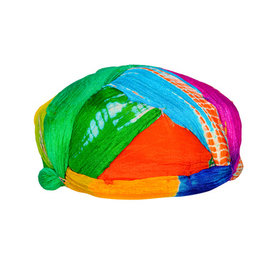 S H A H I T A J Traditional Rajasthani Jaipuri Faux Silk Multi-Colored Gol or Foam Pagdi Safa or Turban for Kids and Adults (RT510)-18-3