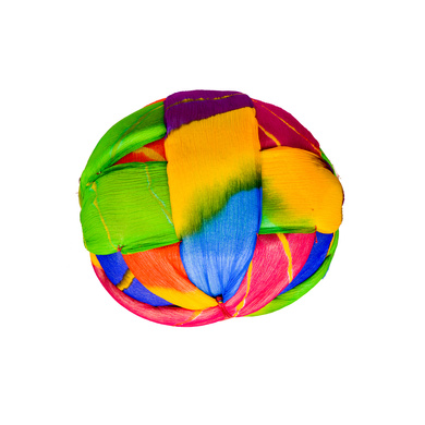 S H A H I T A J Traditional Rajasthani Jaipuri Faux Silk Multi-Colored Gol or Foam Pagdi Safa or Turban for Kids and Adults (RT512)-18-4