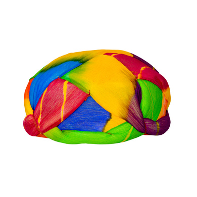 S H A H I T A J Traditional Rajasthani Jaipuri Faux Silk Multi-Colored Gol or Foam Pagdi Safa or Turban for Kids and Adults (RT512)-18-3