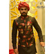 S H A H I T A J Traditional Rajasthani Silk Maroon & Golden Vantma or Rope Pagdi Safa or Turban for Kids and Adults (DT516)-ST636_23andHalf-sm