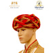 S H A H I T A J Traditional Rajasthani Silk Red & Golden Vantma or Rope Pagdi Safa or Turban for Kids and Adults (RT517)-ST637_22andHalf-sm