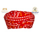 S H A H I T A J Traditional Rajasthani Cotton Red Bandhej Jodhpuri Gol Pheta Pagdi Safa or Turban for Kids and Adults (RT521)-ST641_18andHalf-sm