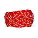 S H A H I T A J Traditional Rajasthani Cotton Red Bandhej Jodhpuri Gol Pheta Pagdi Safa or Turban for Kids and Adults (RT521)-18-4-sm