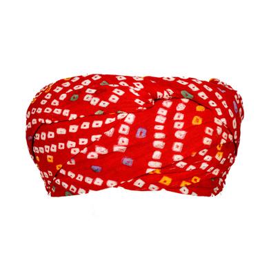S H A H I T A J Traditional Rajasthani Cotton Red Bandhej Jodhpuri Gol Pheta Pagdi Safa or Turban for Kids and Adults (RT521)-18-3