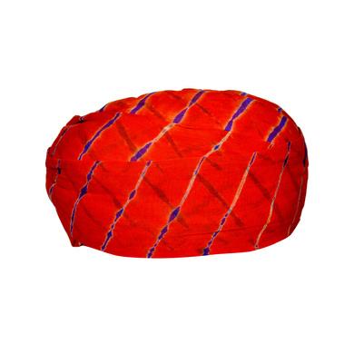 S H A H I T A J Traditional Rajasthani Cotton Red Lehariya Jodhpuri Gol Pheta Pagdi Safa or Turban for Kids and Adults (RT523)-18-3