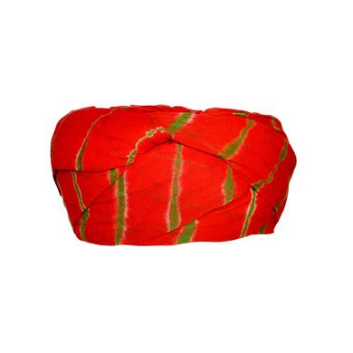 S H A H I T A J Traditional Rajasthani Cotton Red Lehariya Jodhpuri Gol Pheta Pagdi Safa or Turban for Kids and Adults (RT523)-18-4