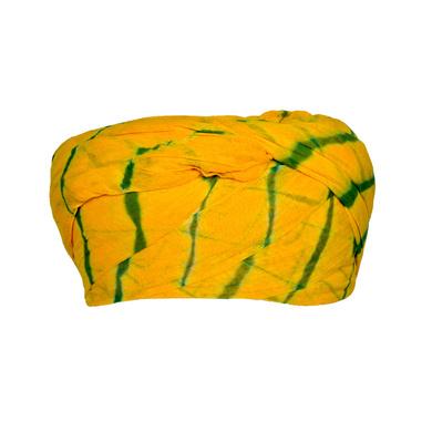 S H A H I T A J Traditional Rajasthani Cotton Yellow Lehariya Jodhpuri Gol Pheta Pagdi Safa or Turban for Kids and Adults (RT527)-18-3