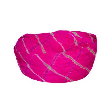 S H A H I T A J Traditional Rajasthani Cotton Pink Lehariya Jodhpuri Gol Pheta Pagdi Safa or Turban for Kids and Adults (RT528)-18-3
